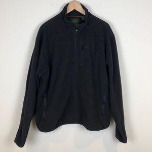 Timberland Black Fleece Zip Up Jacket - Size XXL